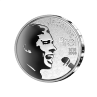 Pièce de 10 euros Belgique 2018 « Jacques Brel » Belle-épreuve