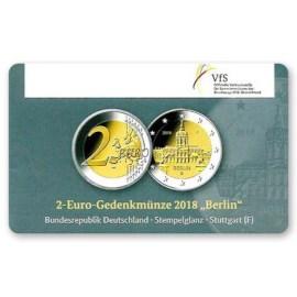 """Duitsland 2 Euro Berlin 2018 Coincard """"F"""""""