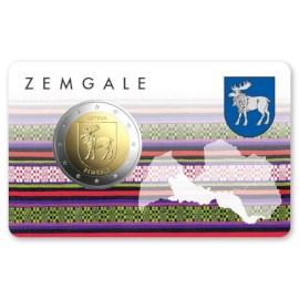 """Letland 2 Euro """"Zemgale"""" 2018 BU Coincard"""