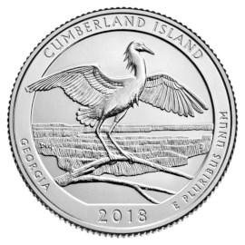 "US Quarter ""Cumberland Island"" 2018"