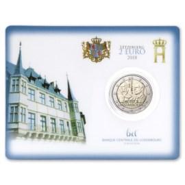 "Luxemburg 2 Euro ""Grondwet"" 2018 Coincard"