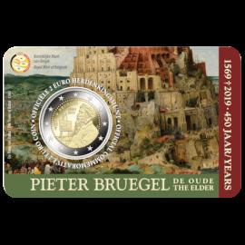 Pièce commémorative Belgique 2019 de 2euros «450ans Bruegel» BU dans une coincard - NL