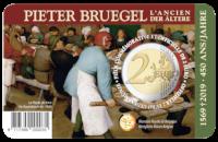 2 euromunt België 2019 '450 jaar Bruegel' BU in coincard NL