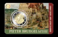 2 euromunt België 2019 '450 jaar Bruegel' BU in coincard FR