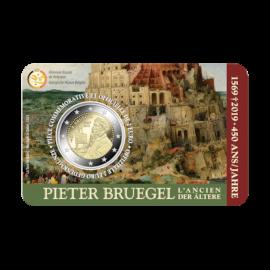 Pièce commémorative Belgique 2019 de 2euros «450ans Bruegel» BU dans une coincard - FR