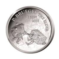 Pièce commémorative Belgique 2019 de 10euros «Bruegel - Renaissance» Belle-épreuve Argent dans son étui.