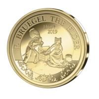 50 euromunt België 2019 'Bruegel – Renaissance'  Goud Proof in etui