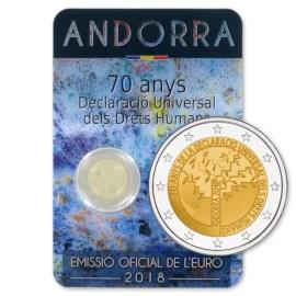 """Andorra 2 Euro """"Human Rights"""" 2018"""