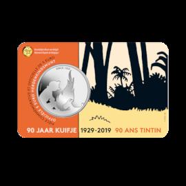 5 euromunt België 2019 '90 jaar Kuifje' in RELIËF BU in coincard