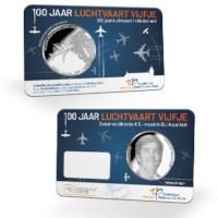 Aviation  5 euro coin 2019 BU-quality in coincard