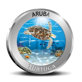 Aruba 5 Florin 'Turtuga' 2019 Zilver Proof