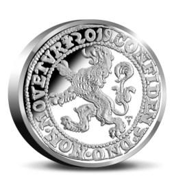Officiële Herslag Leeuwendaalder 2019 Zilver Proof – Piedfort editie