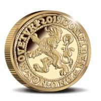 Officiële Herslag Leeuwendaalder 2019 Goud Proof – Piedfort editie