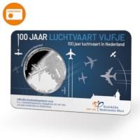Luchtvaart Vijfje 2019 UNC Verzilverd in coincard