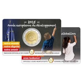 "België 2 Euro ""Ontwikkeling"" 2015 BU FR Coincard"