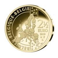 2,5 euromunt België 2019 'Grand Départ Brussel' BU in coincard - NL