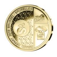 Pièce de 2,5 euros Belgique 2019 « Grand Départ Bruxelles » BU dans une coincard - FR