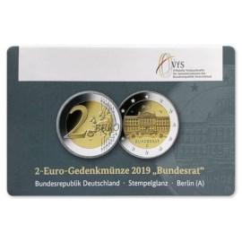 """Duitsland 2 Euro """"Bundesrat"""" 2019 Coincard """"A"""""""
