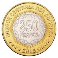 Comoren 250 Francs 2013