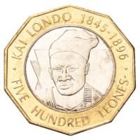 "Sierra Leone 500 Leones ""Kai Londo"" 2004"