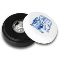 "Official restrike: Ducaton ""Silver Rider"" 2 Ounce - Royal Delft edition"