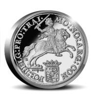 "Officiële herslag: Dukaton ""Zilveren Rijder"" 2 Ounce - Royal Delft editie"