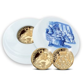 Official restrike: Gold Ducaton 1 Ounce - Royal Delft edition