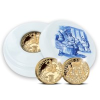 Official restrike: Gold Ducaton 2 Ounce - Royal Delft edition