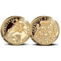Officiële herslag: Gouden Dukaton 2 Ounce - Royal Delft editie