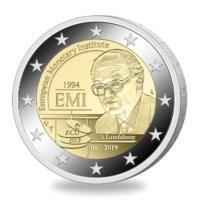 2 euromunt België 2019 '25 jaar oprichting EMI' in NL coincard