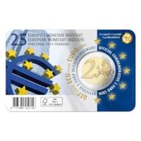 2 euromunt België 2019 '25 jaar oprichting EMI' in FR coincard