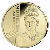 25 euromunt België 2019 'Audrey Hepburn' Goud Proof in etui