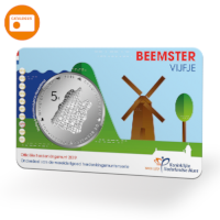 Beemster 5 Euro Coin BU quality in coincard