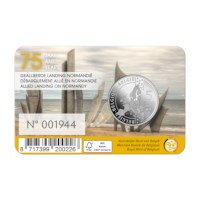 5 euromunt België 2019 '75 jaar D-Day' BU in coincard