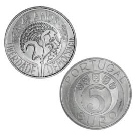 """Portugal 5 Euro """"Anjerrevolutie"""" 2019"""