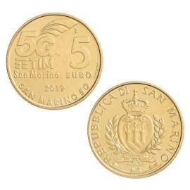"""San Marino 5 Euro """"5G-Netwerk"""" 2019"""