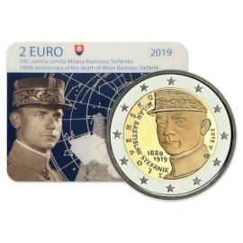 "Slowakije 2 Euro ""Stefanik"" 2019 BU Coincard"