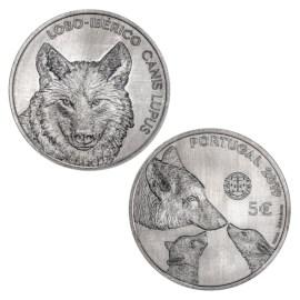 """Portugal 5 Euro """"Iberische Wolf"""" 2019"""