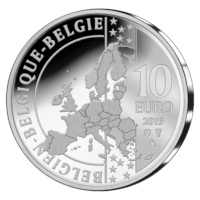 "Silver 10 euro coin Belgium 2019 ""100th anniversary of the birth of Briek Schotte"""