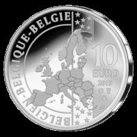 "Silver 10 euro commemorative coin Belgium 2019 ""100th anniversary of the birth of Briek Schotte"""