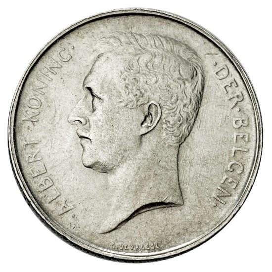 België 1 Frank 'Albert I 1910 – 1914' - Vlaamse versie