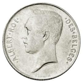 Belgique Pièce de 1 franc en argent Albert Ier - Version française