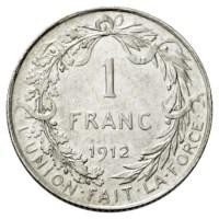 1 Frank 1910–1914 FR - Albert I