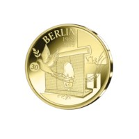 "12.5 euro  Belgium 2019 ""30 years fall of the Berlin wall"" Gold Proof in cassette"