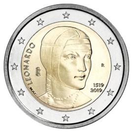 """Italië 2 Euro """"Leonardo da Vinci"""" 2019"""
