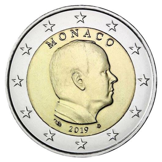 Monaco 2 Euro 2019 UNC