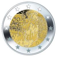 Allemagne 2 euros set « Mur de Berlin » 2019