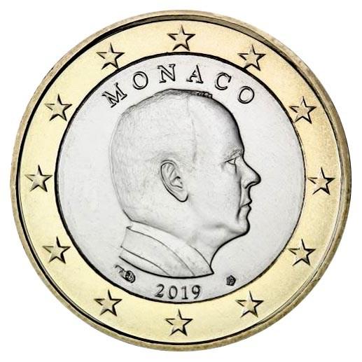 Monaco 1 euro 2019 UNC
