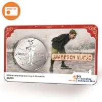 Jaap Eden 5 Euro Coin BU quality in coincard