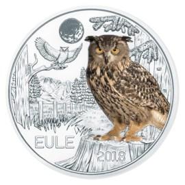 """Austria 3 Euro """"Owl"""" 2018"""